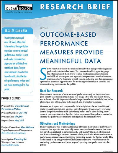 Outcome-Based Performance Measures