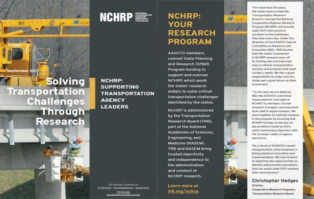 NCHRP CEO brochure