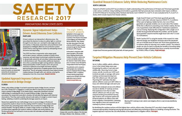 Safety Research 2017: Innovations from State DOTs