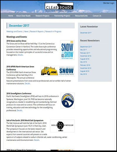 Clear Roads E-Newsletters