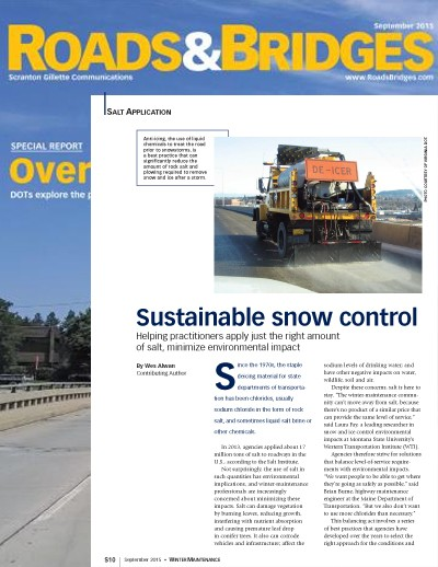 Clear Roads feature article - Roads & Bridges Sept. 2015