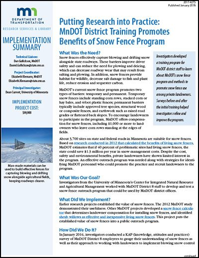 Benefits of Snow Fence