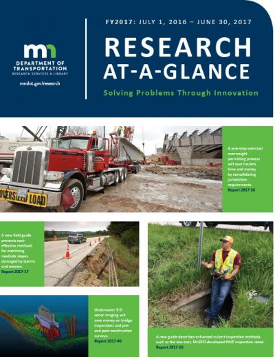 MnDOT Research Services & Library FY2017 At-A-Glance