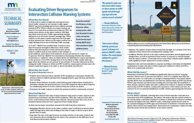 Collision Warning System Tech Summary