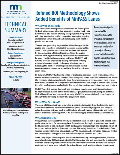 Benefits of MnPASS Lanes