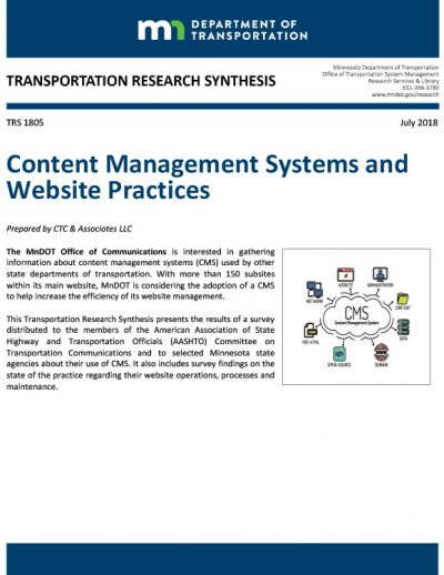 Content Management Systems and Website Practices