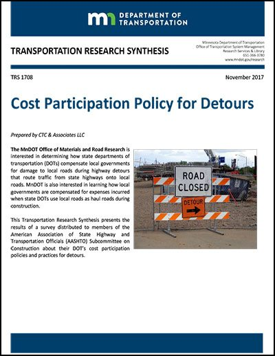 Cost Participation Policy for Detours