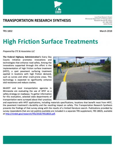 High Friction Surface Treatments