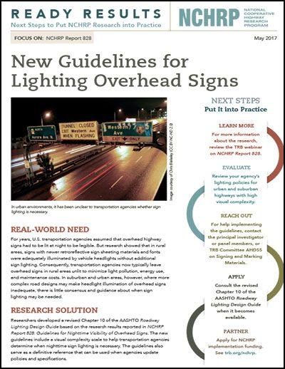 Ligting Overhead Signs