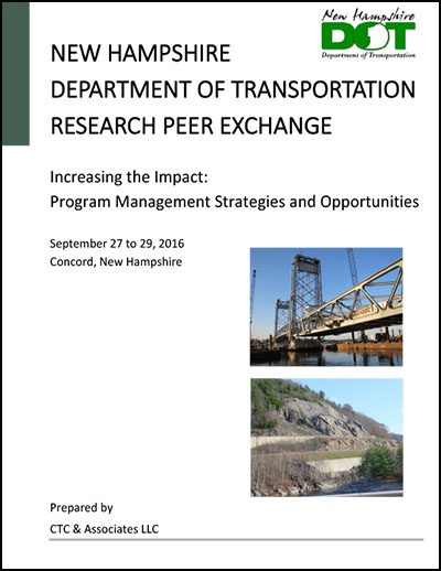 New Hampshire DOT Peer Exchange 2016
