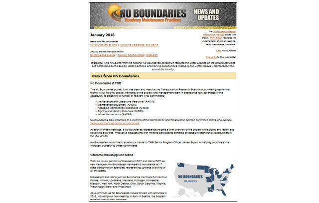 No Boundaries E-News